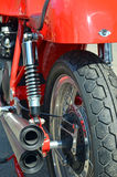 Classic motorcycle exhaust pipes. Royalty Free Stock Photography