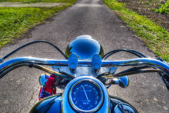 Classic motorcycle in hdr Stock Images
