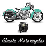 Classic motorcycle Royalty Free Stock Images