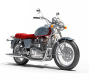 Classic motorcycle isolated Stock Images