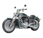 Classic motorcycle isolated Royalty Free Stock Image