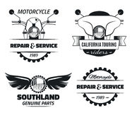 Classic Motorcycle labels Stock Photo
