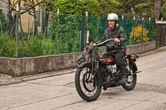 Classic motorcycle Lea-Francis 1913 Royalty Free Stock Image