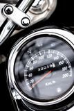 Classic motorcycle mileage dashboard , mileage in white and bl. Ack.classic motorcycle display odometer and fuel sign royalty free stock photos