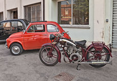Classic motorcycle Moto Guzzi (1939) Stock Images