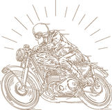 Classic motorcycle race Royalty Free Stock Photo