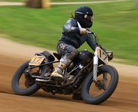 Classic motorcycle rider Royalty Free Stock Images