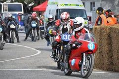Classic Motorcycle Street Racing Start - Methven New Zealand Stock Photo