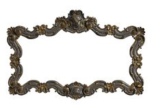 Classic moulding frame with ornament decor stock photography