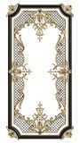 Classic moulding frame with ornament decor stock image