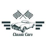 Classic muscle car emblems, high quality retro badge and vintage icon. Design elements for service car repair, restoration and car. Car set bagde  classic style Royalty Free Stock Photo