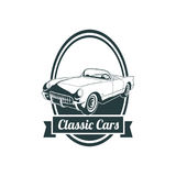Classic muscle car emblems, high quality retro badge and vintage icon. Design elements for service car repair, restoration and car. Car set bagde  classic style Royalty Free Stock Images
