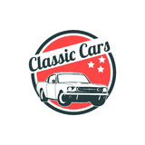 Classic muscle car emblems, high quality retro badge and vintage icon. Design elements for service car repair, restoration and car Royalty Free Stock Images