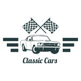Classic muscle car emblems, high quality retro badge and vintage icon. Design elements for service car repair, restoration and car. Car set bagde  classic style Royalty Free Stock Photography