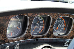 Classic muscle car gauges Stock Photography