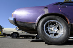 Muscle car tire Royalty Free Stock Images