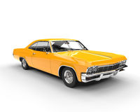 Classic muscle yellow car Stock Photo