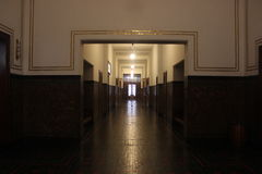 Classic musem corridor Stock Photography