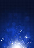 Classic Music Blue Background Royalty Free Stock Photos