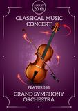 Classic Music Poster Royalty Free Stock Photos