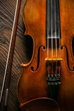 Classic music violin vintage in wooden background Royalty Free Stock Image