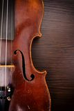 Classic music violin stock image