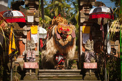 Classic national Balinese dance Barong Stock Photos