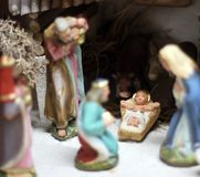Classic Nativity scene with Jesus, Joseph and Mary 2 Stock Photography