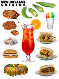 Classic New Orleans Cuisine Stock Photo
