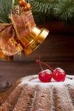 Classic New Year fruitcake Stock Photos