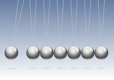 Classic Newtons cradle. Royalty Free Stock Image