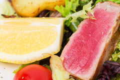 Classic nicoise salad closeup. Royalty Free Stock Photos