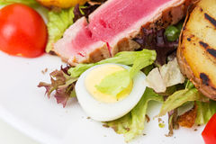 Classic nicoise salad closeup. Stock Photography