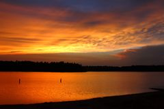 Classic Northwoods Sunset Royalty Free Stock Images