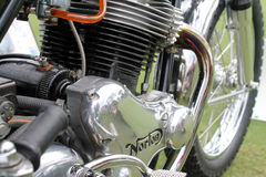 Classic Norton commando motorcycle engine Royalty Free Stock Images