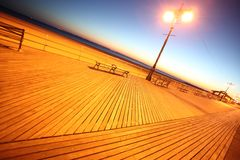 Classic NY - evening in Brighton Beach Royalty Free Stock Image