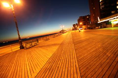 Classic NY, Evening In Brighton Beach Royalty Free Stock Photos