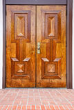 Classic oak wood door Royalty Free Stock Images