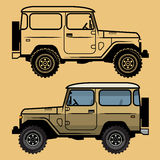 Classic off-road suv car Royalty Free Stock Image
