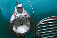 Classic old american car detail stock image