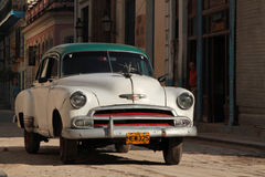 Classic old American car in Havana Royalty Free Stock Photo