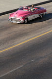 Classic old American car on Malecon Stock Photo