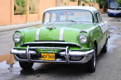 Classic old american car on the street of Varadero Royalty Free Stock Photo