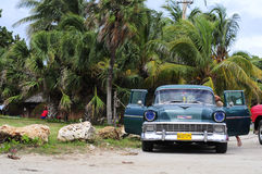 Classic old american car on the streets of Havana Stock Photo