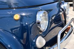 Classic old blue car Stock Photo