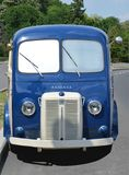 Classic old blue French delivery van Royalty Free Stock Images