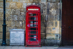 Classic Old British Abandoned Red Telephone Booth Royalty Free Stock Image