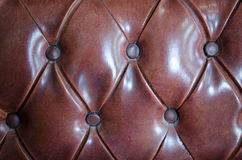 Classic old brown leather. Stock Photo
