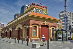 Classic old building located at Customhouse Quay in Wellington CBD Stock Image