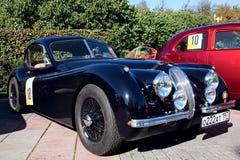 Classic old car 1953 Jaguar XK120 Roadster Stock Photography